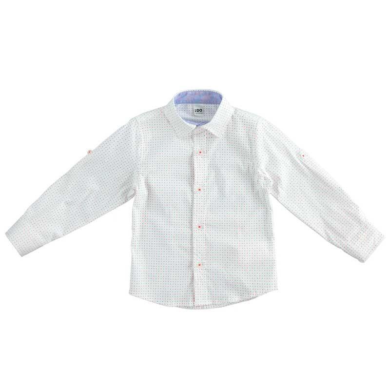 camisa niño ido blanca a motas