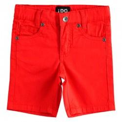 Pantalón Bermuda Niño Rojo...