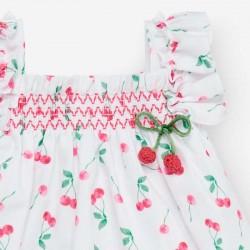 vestido bebe de paz rodriguez estampado cerezas
