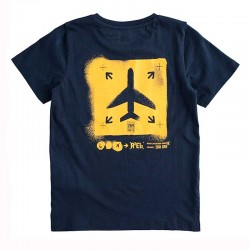 camiseta niño de manga corta ido marino y amarillo