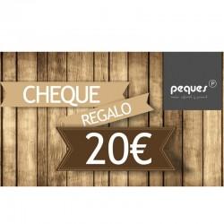cheque regalo 20 € ropa de niños