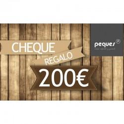 cheque regalo 200 € ropa de niños