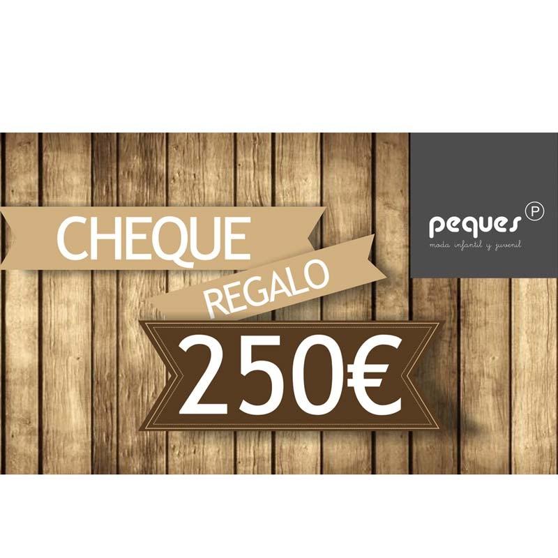 cheque regalo 250 € ropa de niños