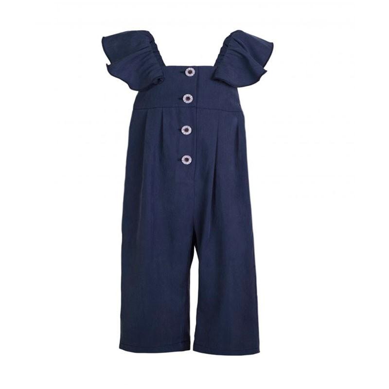mono de niña azul marino eve children