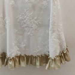 vestido niña bas marti blanco con lazo marron