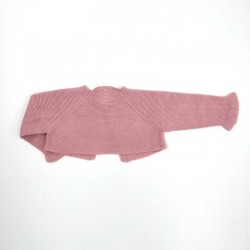chaqueta de punto bebe rosa de solita