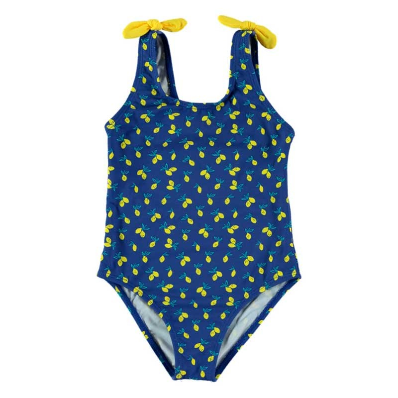 bañador de niña bimbalina estampado limones