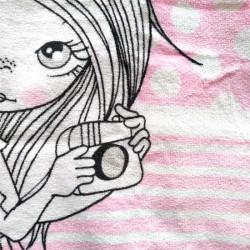 toalla bebe con capucha rosa de ido