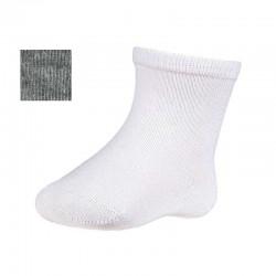 calcetines bebe color gris jaspeado ysabel mora