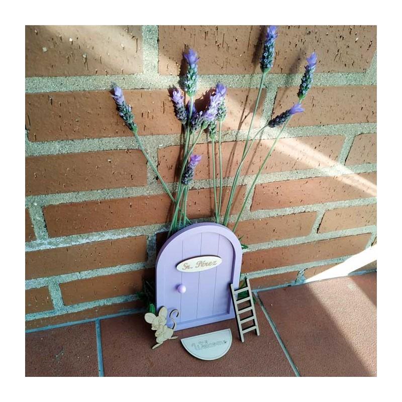 puerta ratón perez de niños violeta