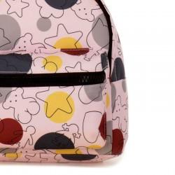 mochila infantil rosa estampada de tous baby