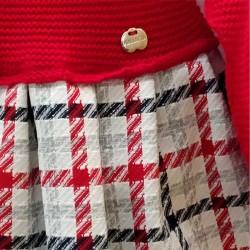 vestido bebe rojo a cuadros de juliana