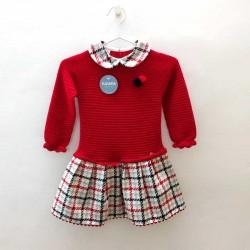 vestido bebe niña de invierno rojo juliana