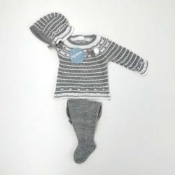 conjunto bebe de invierno gris juliana