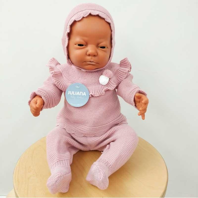 conjunto bebe niña rosa de invierno juliana