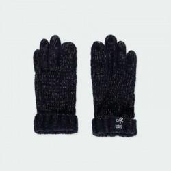 guantes de niña boboli azules con brillos