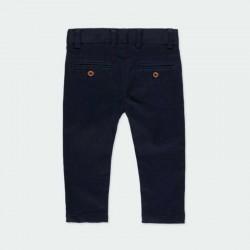pantalón bebé niño azul marino de satén