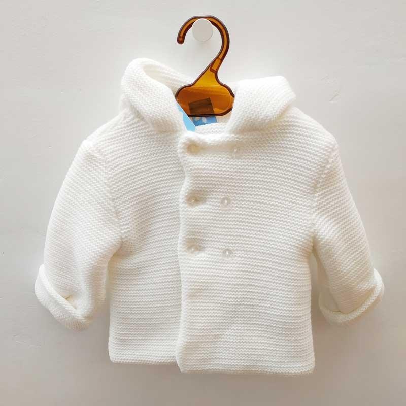 chaquetón punto bebé crudo de sardon