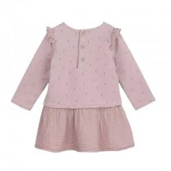 vestido bebe invierno rosa de baby clic