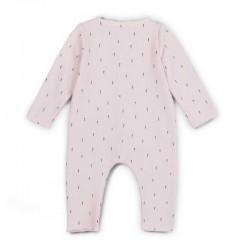 pelele bebe de algodon organico rosa baby clic