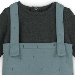 conjunto bebe de peto y camiseta manga larga baby clic