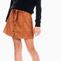 falda niña de ante marron garcia jeans