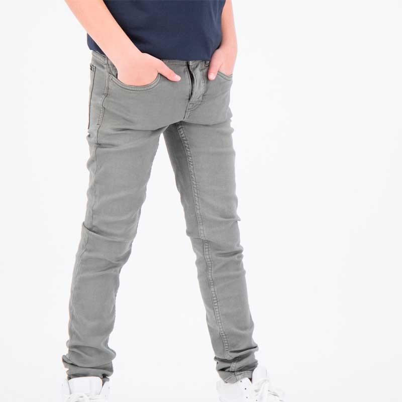 pantalon vaquero niño slim fit gris de garcia jeans