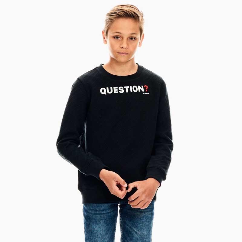sudadera niño negra de garcia jeans de letras