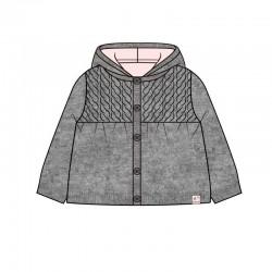 chaqueta bebe niña con borreguito rosa boboli