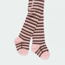 vestido bebe de punto rosa con leotardos de boboli