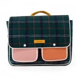 mochila rectangular sticky lemon a cuadros verdes