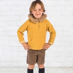 conjunto niño bas marti mostaza y marrón
