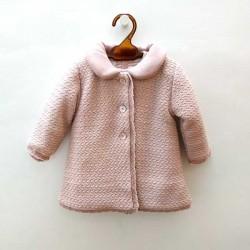 abrigo bebe niña de punto rosa paz rodriguez