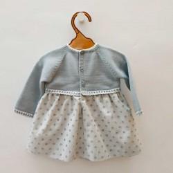 vestido bebe azul empolvado de paz rodriguez