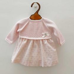 vestido bebe rosa de invierno paz rodriguez