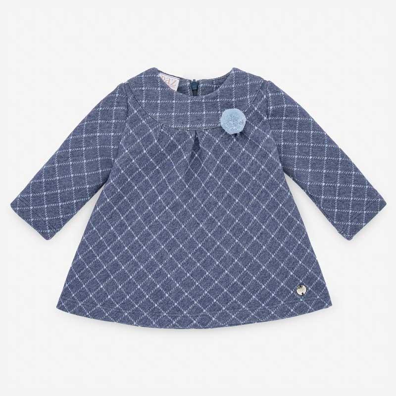 vestido bebe invierno de punto azul cobalto paz rodriguez