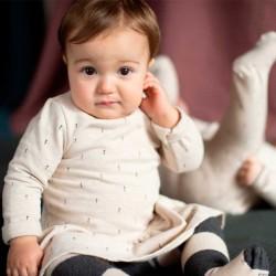 vestido bebe beige de baby clic para invierno