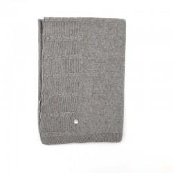 Manto punto tricot en gris...