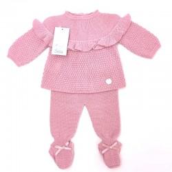 Conjunto ropa bebe de punto rosa Solita