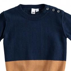 detalle botones jersey niño azul marino y camel de ido