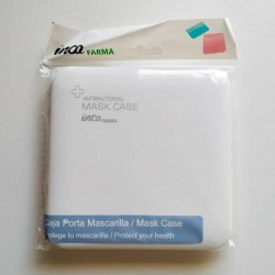 caja porta mascarillas antibacteriana color blanco