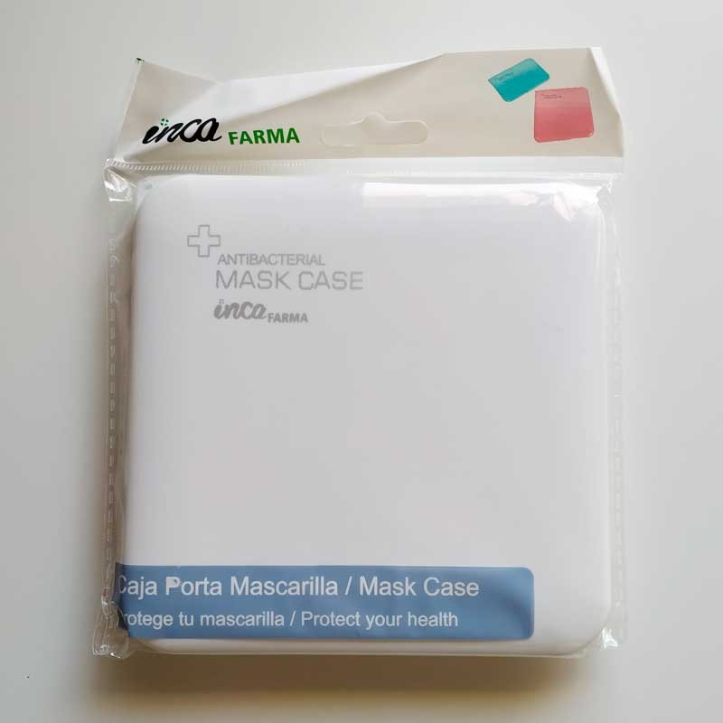 caja porta mascarillas antibacteriana color blanco