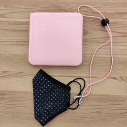 cordon sujeta mascarilla color rosa