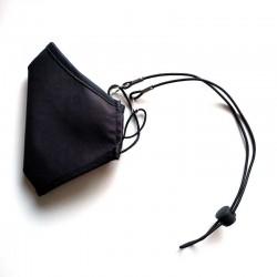 cordon sujeta mascarilla color negro