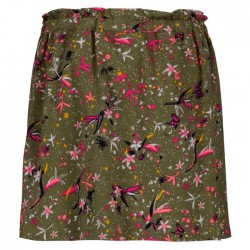 conjunto nilña garcia jeans casmiseta neon y falda