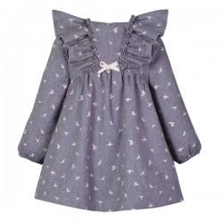 vestido niña eve children gris de gaviotas