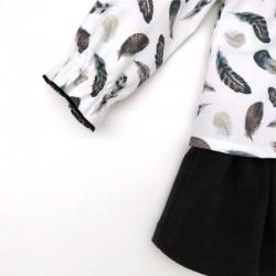 vestido bebe invierno de bas marti estampado hojas