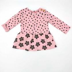 vestido bebe invierno algodon organico rosa de boboli