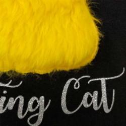 vestido niña felpa negro de ido con pelo amarillo