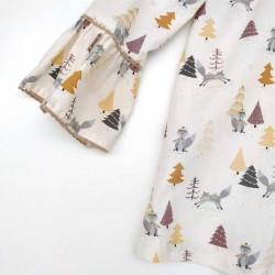 vestido niña bas mati invierno de corte cadera estampado pinos